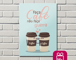 Placa decorativa MDF - Café