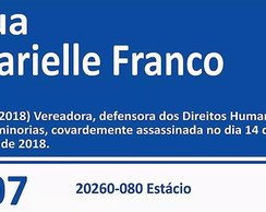 PLACA DECORATIVA E POSTER MARIELLE FRANCO VEREADORA