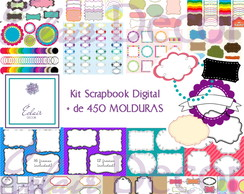 Kit Scrapbook Digital MOLDURAS FRAMES