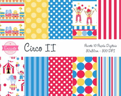Kit Papel Digital - Circo II