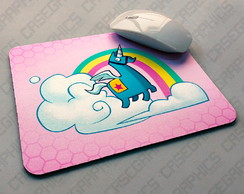 Mouse Pad Fortnite Battle Royale Unicornio Pinhata Rosa