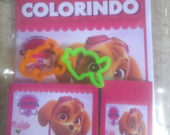 Kit de colorir com giz e massinha