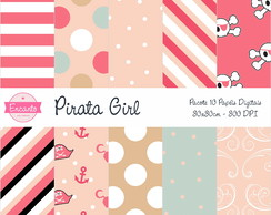 Kit Papel Digital - Pirata Girl