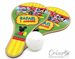 Kit Raquete de Ping Pong - Casa do Mickey
