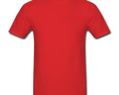 bf00e9129d8d3 ... Camiseta lisa 100% algodão 30.1 - Vermelha