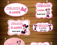 PLAQUINHAS MINNIE ROSA