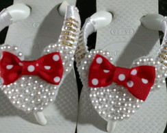 Chinelo Bordado Minnie Pérolas