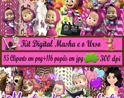 Kit Digital Masha e o Urso
