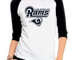 e3ccbc6bc Camiseta Preta Los Angeles Rams Futebol Americano Nfl no Elo7 ...