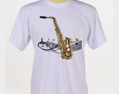 Camiseta Rock - Jazz - Saxofone