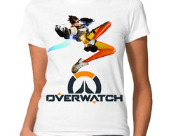 Camiseta Baby Look Overwatch Tracer