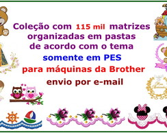 Matriz Bordado BROTHER 115 Mil Matrizes PES+EMBIRD e-mail