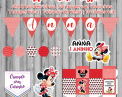 Kit Mini festa - Minnie Vermelha
