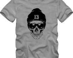 eef6b8cb70 ... Camiseta Camisa Tamanho Especial Plus Size Caveira Rock
