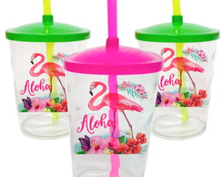 Copo Twister 500 Ml Personalizado,Flamingo, Festa Tropical