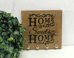 Porta Chaves Chaveiro Decor Parede Home Sweet Home Pátina