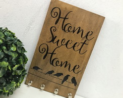 Porta Chaves Chaveiro Decor Parede Rústico Home Sweet Home