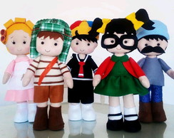 Bonecos da turma do chaves