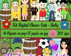 Kit Digital Chaves Cute - Baby