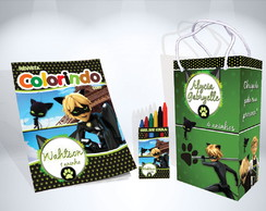 Kit de Colorir Cat Noir + Brindes