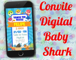 Convite Digital Baby Shark