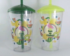 Copos Twister 500 ml Flamingo Tropical