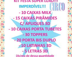kit SUPER LUXO CIRCO ROSA!!
