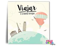 ... Azulejo Viajar é a minha terapia (20x20cm) e45c573487a3b