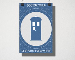 Poster A3 Doctor who Nest Stop