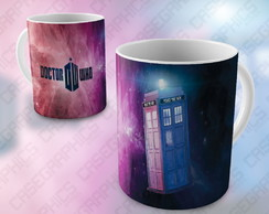 Caneca Doctor Who Tardis Missy Serie Porcelana Matt Smith