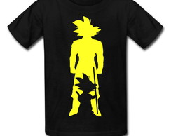 Camiseta Infantil Preta Dragon Ball Goku Kid