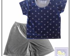... Pijama Infantil âncora cavado ou manga tamanho 2 e 4 anos 90803bc74f3f5