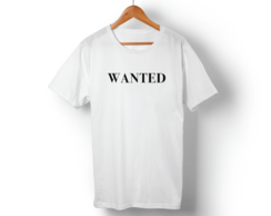 Camiseta branca Wanted