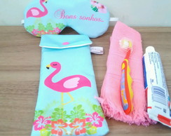 Kit Festa do Pijama Flamingo