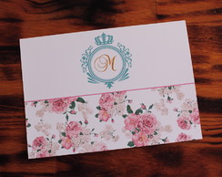 Convite 15 anos floral tiffany real barato promoção 1 real