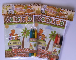 Revista de colorir 10x15 tema Safari