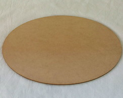 Aplique oval Mdf Crú 3mm 30x20
