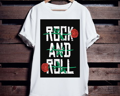Camiseta Longline Rock And Roll
