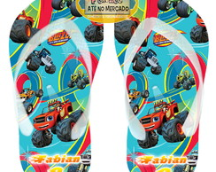 Chinelo Personalizado Tema Blaze and Monster Adulto Infantil