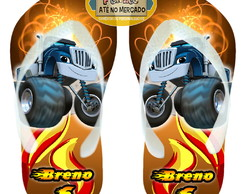 Chinelo Blaze and Monster! Sandália Personalizada Unissex