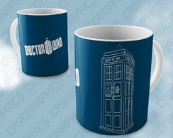 Caneca Doctor Who Tardis Matt Smith Missy Serie Porcelana