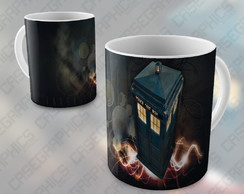 Caneca Doctor Who Tardis Matt Smith Serie Missy Porcelana