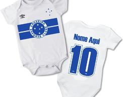 ... Body Infantil Bebê Personalizado Nome Time Cruzeiro Promoção 42a0a68a69bb1