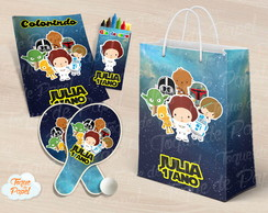Kit Ping Pong + kit colorir Star Wars