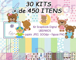 Kit Scrapbook Digital URSINHOS