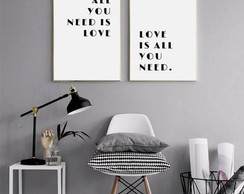 Poster All You Need Is Love - imprimir
