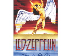 2x Adesivo Led Zeppelin swan song Icarus 10x15cm a132