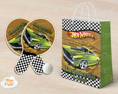 Kit Raquete personalizada Hot Wheels