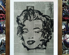 ... Gravura Popart 006 - Maryling - A3 - New York Times 7d319a07d9f78