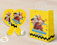 Kit Raquete personalizada charlie brown